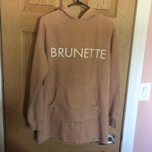 Brunette Sweater Dress